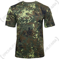 GERMAN Army Flecktarn Camo Pattern T-Shirt - ALL SIZES - Cotton Camouflage Top