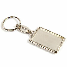 Blank Shiny Metal Keyring Keychain Printed Insert /Logo/Photo - 39x25mm MG-40D