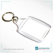Blank Plastic Keyring Passport Photo Size with Insert 45 x 35mm (A4)