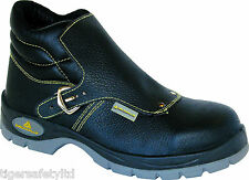 Delta Plus Panoply Cobra S1P Mens Black Leather Metatarsal Safety Boots Footwear
