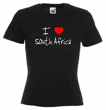 I Love Hearts South Africa Ladies Fitted T-Shirt