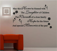 May This Home Be Blessed Vinilo adhesivo de pared con texto