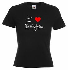 I Love Hearts Birmingham Ladies Fitted T-Shirt
