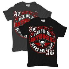 T-Shirt Antisocial ultras punk skin kc hooligan kategorie acab fight halbzeit oi