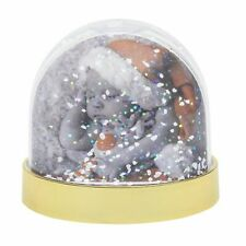 Blank SNOW Dome Glitter Xmas Globe Insert Photo Personalised Gift - 70x62mm SD1