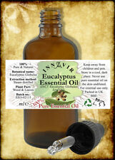 100% Pure Eucalyptus Essential Oil 100ml, 50ml, 30ml, 10ml+10% FREE With Pipette