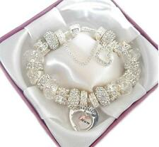 LADIES  LUXURY LADIES CHARM BRACELET BEADS GIFT BOXED MOTHERS DAY BIRTHDAY