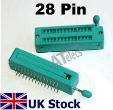 28 Pin ZIF IC Socket  DIP 2.54mm  for DIY Test Arduino Prototyping - UK Stock