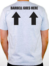 BARBELL GOES HERE - Weight Training / Exercise / Fitness Themed Men's T-Shirt