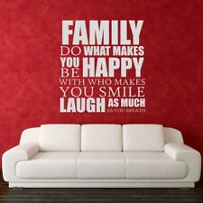 DO WHAT MAKES YOU HAPPY wall quote family home decal vinyl sticker transfer