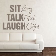 SIT TALK LAUGH wall quote mural sticker living room home decal vinyl transfer