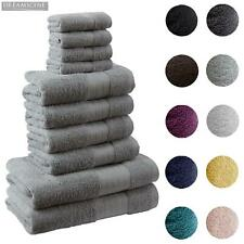 Luxury Soft 10 Piece 100% Cotton Towel Bale Set Face Hand Bath Bathroom Towels