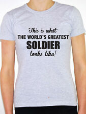 WORLDS GREATEST SOLIDER - Military / Army / Marine / Fun Themed Women's T-Shirt