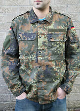 GERMAN ARMY -COMBAT SHIRT -  FLECKTARN CAMO - GRADE 1 - GENUINE ARMY SURPLUS