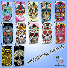 Cover Skull Teschio per  IPHONE 3 4 5 6 GALAXY S 2 3 4 5 HTC M7 8 SONY NOKIA LG