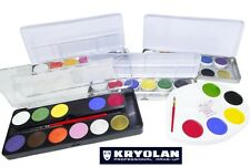 KRYOLAN AQUACOLOR SUPRACOLOR TAVOLOZZA PALETTE SCATOLINA make-up viso teatrale