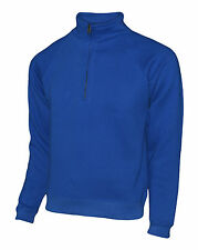 New Mens Quarter Zip Sweat Jacket, Size XS to XXXL, Suitable for Work/Leisure