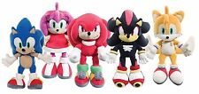 """NEW OFFICIAL 14"""" SONIC THE HEDGEHOG TAILS KNUCKLES AMY SHADOW PLUSH SOFT TOYS"""
