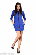 NEW Women's Bodycon Dress Crew Neck Short Sleeves S M L (8/10/12) Leather Strip