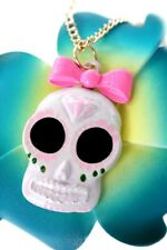 cute Sugar Skull Mexican Tattoo skull Rockabilly Halskette Totenkopf Kette