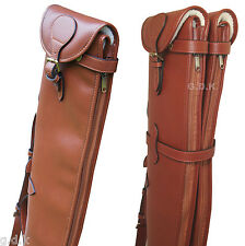 Tanned double leather shotgun slip, detachable, guardian leather shotgun case,