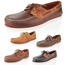 MENS TIMBERLAND CLASSIC 2 EYE LEATHER BOAT DECK SUMMER SHOES SIZE