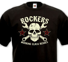 T-Shirt ROCKERS  WORKING CLASS HEROES - Rock'n'Roll Rockabilly Punk Rocker Skull