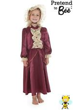 GIRLS KIDS RICH VICTORIAN LADY HISTORICAL FANCY DRESS COSTUME OUTFIT AGE 3-5-7-9