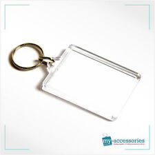 Blank Insert Your Own Photo Keyring Keychain Keyfob Marketing - 50mm x 35mm (C1)