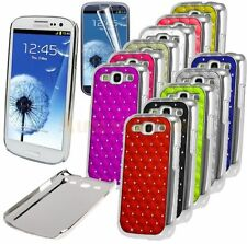 Chrome Design Luxury Bling Diamond Case Cover For Samsung Galaxy S3 SIII i9300