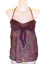 Bnwt Women's French Connection Strappy Sequin Top Blouse 100% Silk RRP£60 New