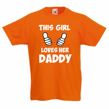 THIS GIRL LOVES HER DADDY - Family / Novelty / Father Children's Themed T-Shirt