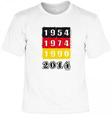 T-Shirt - 1954 - 1974 - 1990 - 2014 - Fan Shirt Trikot zur WM Feier - Humor Fun