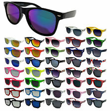 New Wayfarer Sunglasses Mens Womens Classic & Mirror Lens 80's Retro Geek UV400