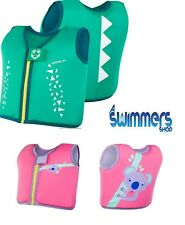 SPEEDO SEA SQUAD SWIMMING FLOAT VEST 2-4 YEARS BLUE OR PINK BUOYANCY AID NEW