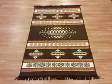 Turkish Anatolian Brown Tribal Reversible Kilim Rug Runner S - XL SIZE  60% OFF