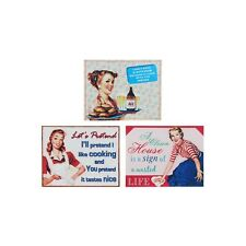 Kitchen Retro Vintage Metal Tin Wall Plaque Shabby Chic Novelty Gift