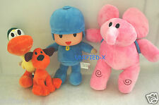 The Original Pocoyo Elly Pato Loula plush toy set
