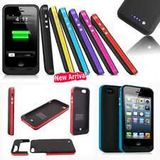 Portable External Backup Battery Power Bank Charger Case 2500mah for iPhone 5 5s