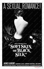 Soft skin on black silk :  Vintage Movie Advertising  Poster reproduction
