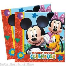 Disney MICKEY MOUSE CLUBHOUSE Paper NAPKINS Boys Birthday Party Supplies Job Lot