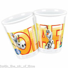 Disney FROZEN Girls Party Supplies Tableware Job Lot OLAF SUMMER Plastic CUPS