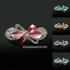 Womens Floral Design Rhinestone Large Metal Alloy Hair Clips Barrettes HC045  Be