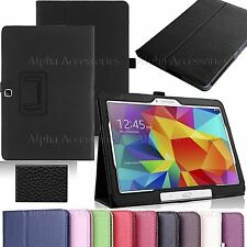 """PU Leather Magnetic Flip Stand Case Cover For Samsung Galaxy Tab 4 10.1"""" T530"""