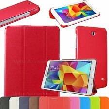 """Ultra Slim PU Leather Folio Stand Case Cover For Samsung Galaxy Tab 4 8"""" T330"""
