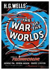The War Of The Worlds 1953  :   Vintage Film advertising poster reproduction