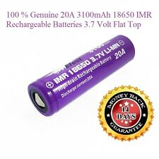 Efest 20A 3100mAh 18650 IMR Rechargeable Batteries 3.7 Volt High Drain flat Top