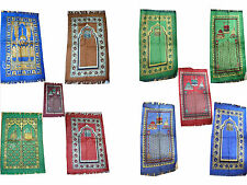 BRAND NEW PRAYER RUG SAJJADA MAT ISLAMIC MUSLIM JANAMAZ LIGHT WEIGHT