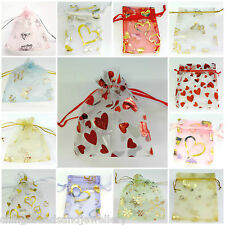 100 Wedding Favor Gift Bags Organza Jewellery Pouch 7x5cm 10x12cm