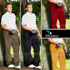Stromberg 4539 Mens Classic Cord Golf Trousers in Mustard just £26.99 MSRP£59.99